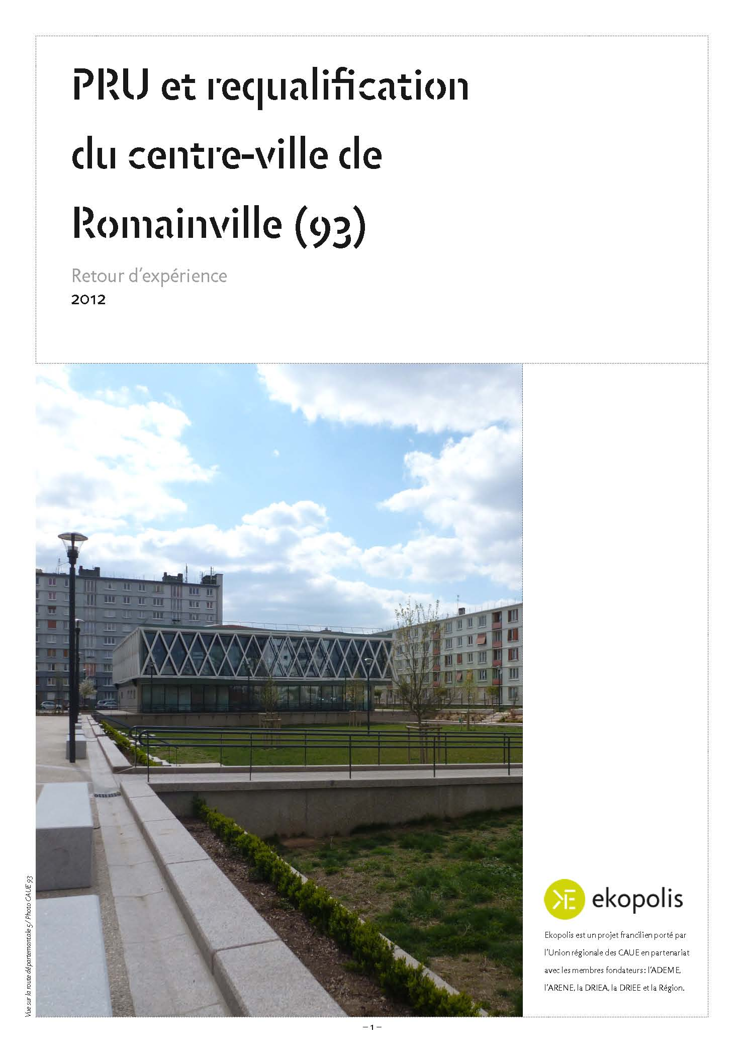 Couverture REX PRU et requalification du centre ville de Romainville